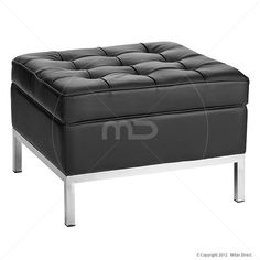 Florence Knoll Replica Ottoman - Black Milan Direct Living Room Furniture Online, Home Furniture, Black Ottoman, Florence Knoll, Stool Chair, Milan, Stuff To Buy, House, Design Ideas