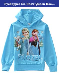 """Eyekepper Ice Snow Queen Hoodie Zipper Sleeveless Jacket Coat for Girls Kids. SIZE CHART (Mesured by Inch, According to different measurement, there will be about 1-3cm difference, and the age just suggested , not exactly according to different babies and kids.Thanks for your kindly understanding) Sizes Shoulder Chest1/2 Dress Length 100 11.02"""" 11.42"""" 29.53"""" 110 11.81"""" 12.20"""" 31.50"""" 120 12.60"""" 12.99"""" 33.46"""" 130 13.39"""" 13.78"""" 35.43"""" 140 14.17"""" 14.57"""" 37.40"""" Care : Hand Wash In Cold Water."""