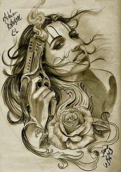 G tatoo art, body art tattoos, bild tattoos, tatuajes tattoos, new tatt Gangster Tattoos, Chicano Tattoos Gangsters, Chicano Art Tattoos, Chicano Drawings, Tatuajes Tattoos, Bild Tattoos, Body Art Tattoos, Sleeve Tattoos, Tattos