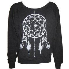 10bbb52672f Ladies Raglan Tri-Black Pullover Top Sweatshirt American Apparel  Dreamcatcher Art Print S