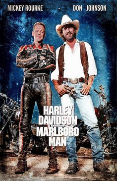 Harley Davidson and the Marlboro Man - Australian Movie Cover Biker Movies, Man Movies, Cult Movies, 80s Movie Posters, Cinema Posters, Marlboro Man, Movie Club, Bon Film, Mickey Rourke
