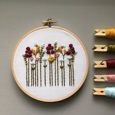 Embroidery For Beginners Hand Embroidery Kit - Beginner Embroidery Kit, DIY Hoop Art, Autumn Wildflowers, Fall Colors, Modern - Floral Embroidery Patterns, Dmc Embroidery Floss, Japanese Embroidery, Hand Embroidery Stitches, Learn Embroidery, Crewel Embroidery, Hand Embroidery Designs, Ribbon Embroidery, Diy Embroidery For Beginners