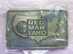 Vintage NEW Red Man Land Chewing Tobacco Belt by HomeHeartLove