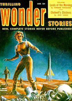 Ed Emshwiller - cover for Thrilling Wonder, Aug 1952