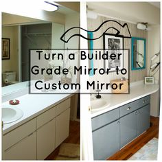 Seesaws and Sawhorses: Builder Grade Mirror to Multiple Custom Mirrors