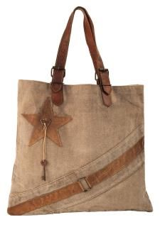 Star Key with Leather Stripe Buckle Bag. Mona B purses, bags, recycled canvas, recycled tarp, patriotic, western, rustic, repurposed