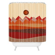 Viviana Gonzalez Geometric Landscape II Shower Curtain | DENY Designs Home Accessories