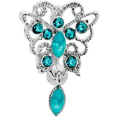Blue Zircon Scintillating Butterfly Belly Ring | Body Candy Body Jewelry