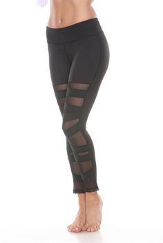 ANCHORA Active Leggings - Black Mesh