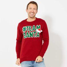 Pullover di Natale 'Santa Claus' Uomo - rosso - Kiabi - 23,00€ Christmas Jumper Day