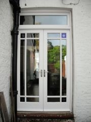 Some Lovely bespoke Edwardian Garden Doors made from Accoya Wood with Double Glazing French Door Windows, French Doors Bedroom, Glass French Doors, French Doors Patio, Windows And Doors, Bay Windows, External French Doors, External Doors, Garden Doors