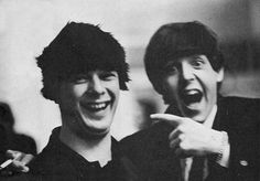 1964 - Brian Epstein and Paul McCartney (photo by Ringo Starr).