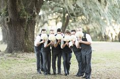 Funny grooms portraits