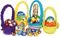 Tutorial: canastas para regalar huevos de chocolate tejidas en crochet (amigurumi)!