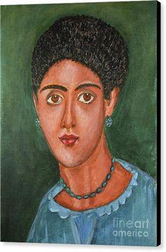 Portrait Canvas Print featuring the painting Princess Portrait by Grigorios Moraitis