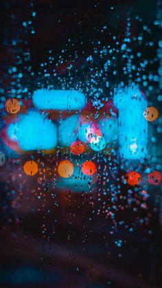 Bokeh, colorful, rain, drops, glass surface, 720x1280 wallpaper