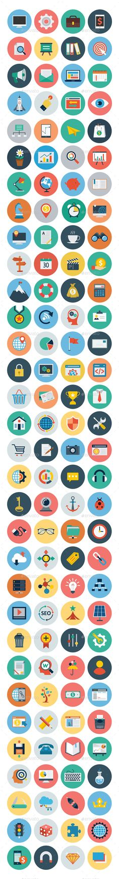 125+ Seo and Marketing Flat Icons — Vector EPS #web icons #marketing vector icons • Available here → https://graphicriver.net/item/125-seo-and-marketing-flat-icons/10418654?ref=pxcr