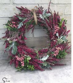 Dried Flower Wreaths, Dried Flowers, Autumn Wreaths, Holiday Wreaths, Flower Decorations, Christmas Decorations, Corona Floral, Christmas Flowers, Diy Wreath