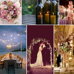 romantic wedding theme collage