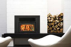 woodbox beside fireplace