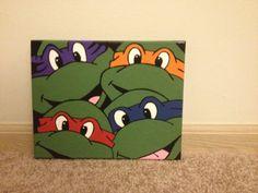 Ninja Turtle Painting by JordansCustomCrafts on Etsy