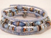 Spiralarmband hellblau  sold