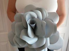 Giant paper Rose, statement rose, wedding flower, bridal bouquet, home decor, photo prop, hand made, unique, eco-friendly, paper flower