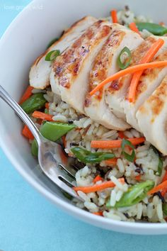 Grilled Citrus Chicken Rice Bowls   The Recipe Critic