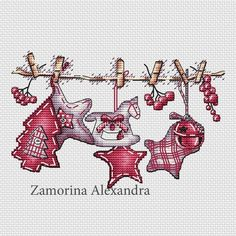 "Cross stitch design ""Festive ribbon"" #sa_stitch #sa_pattern #pattern #crossstitch"