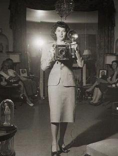Ava Gardner selfie, 1940's