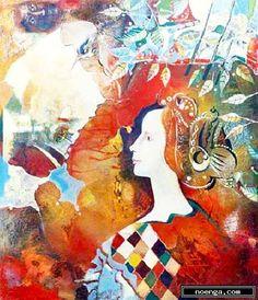 noenga.com :(c) Evgeni  (BULGARIA) :: Bow of the Renaissance :: Figura : Otros : Pintura : Óleo :