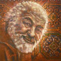 """PARAJANOV. VORDAN KARMIR"". 2016 oil on canvas, imprimatura. 130x100cm http://port2013-en.ivankrutoyarov.com/"