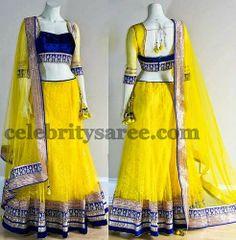 Eyecatching Brasso Yellow Lehenga | Saree Blouse Patterns