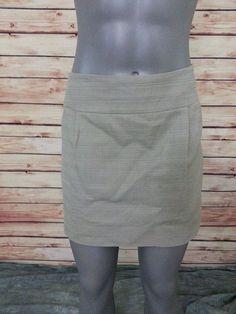 J. Crew  mini skirt exposed zipper size 8 above the knee casual wear to work #JCrew #Mini