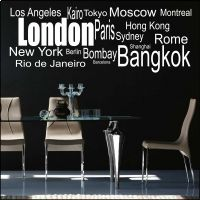 World Cities Wall Sticker City Wall Stickers, Wall Decals, World Cities, Ceilings, Floors, Walls, Windows, Decoration, Room