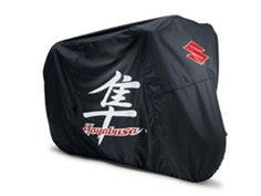 03-14 HAYABUSA OUTDOOR STORAGE MOTORCYCLE BIKE COVER 990A0-66003  03-14 HAYABUSA OUTDOOR STORAGE MOTORCYCLE BIKE COVER 990A0-66003 GENUINE SUZUKI HAYABUSA CYCLE COVER This Hayabusa cover is constructed from heavy-duty polyester with special Color-Lok® fabric to prevent fading. More features include: fully taped seams with waterproof ClimaShield® fabric with side vents allowing the cover to breathe, protective interior windshield liner, full aluminized heat shield allows immediate use..