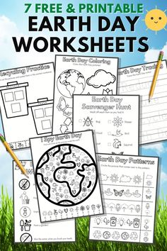 Preschool Themes By Month, Earth Day Kindergarten Activities, Earth Day Activities, Kindergarten Learning, Free Preschool, Free Printable Kindergarten Worksheets, Free Printable Worksheets, Free Printables, Printable Coloring