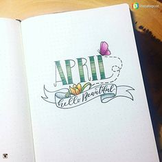 Hello Beautiful - What a wonderful spring welcome @heartistic.jess has given to the new month of April  Love the butterfly on her monthly title page.