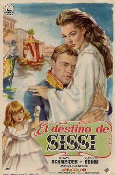 Sissi's destiny movie poster - Romy Schneider, Carlos Böhm