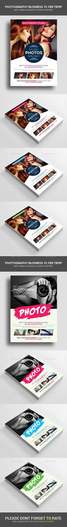 Photography Flyers Template PSD Bundle. Download here: http://graphicriver.net/item/photography-flyers-bundle/14310623?s_rank=201&ref=yinkira