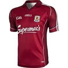The New Galway jersey has just been launched. It features a new crest combining the football and hurling codes under the one crest and one jersey. Mike Morris, Ireland, Football, Men Stuff, Sports, Clothes, Shopping, Irish, Journey