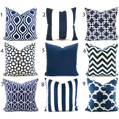 Pillow Covers Any Size You Choose Decorative Pillow Cover Navy Blue... ($15) ❤ liked on Polyvore featuring home, home decor, throw pillows, decorative pillows, home & living, home décor, navy, navy blue toss pillows, navy toss pillows and ikat throw pillows