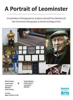 Our BA (Hons) & FdA Commercial #Photography staff and students present their latest #exhibition, 'A Portrait of #Leominster'. #Herefordshire #Art