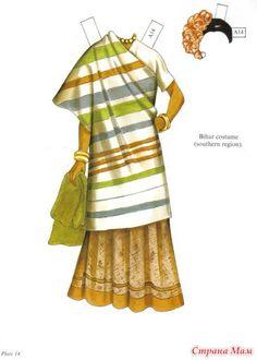 Индийская традиционная одежда - Бумажные куклы и животные - Страна Мам