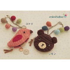 crochet coin purse charm Crochet Coin Purse, Crochet Pouch, Crochet Keychain, Crochet Purses, Crochet Gifts, Cute Crochet, Beautiful Crochet, Knit Crochet, Crochet Toys