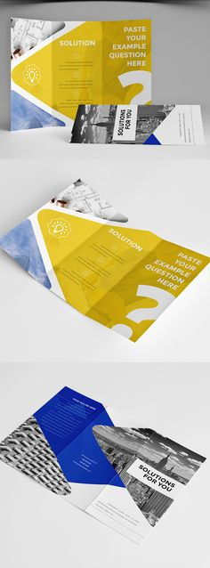 Clean Business Trifold Brochure 4 on Behance