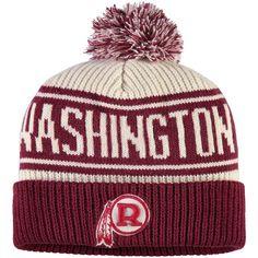 Men s Washington Redskins NFL Pro Line by Fanatics Branded Cream Burgundy  True Classic Z Route Cuffed Knit Hat 19054926b