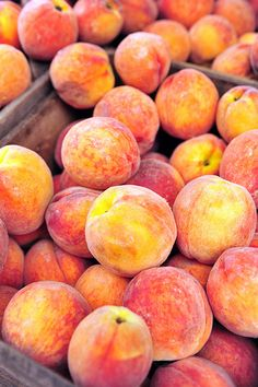 Peaches.... My daddy was a peach farmer !!!!! In Arkansas and Louisiana!  To this day I will not eat a grocery store peach...once you've had them off the tree, warm and fuzzy, you'll never eat another one any other way.  My mama made the best peach cobblers!!!  How I miss my parents and the peaches.