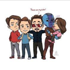 Art by Ahmad Safwan . Marvel Jokes, Marvel Funny, Marvel Heroes, Marvel Avengers, Marvel Gems, Dc Comics, Marvel Cinematic Universe, Iron Man, Spiderman
