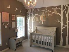 Bird Theme Nursery, Woodland Nursery Girl, Nursery Room, Girl Nursery, Rustic Nursery, Woodland Decor, Rustic Baby, Rustic Theme, Woodland Room